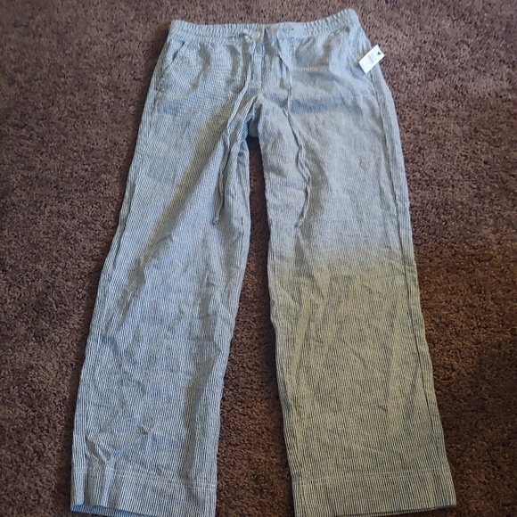 Talbots Pants - NWT Talbots petites striped ankle cropped pants